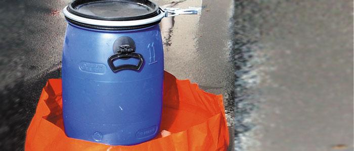 Schachtabdeckung zur mobilen Löschwasserrückhaltung